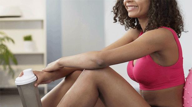 Polvos de proteína para mujeres