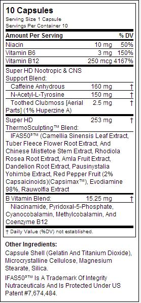 cellucor етикет супер HD храненето