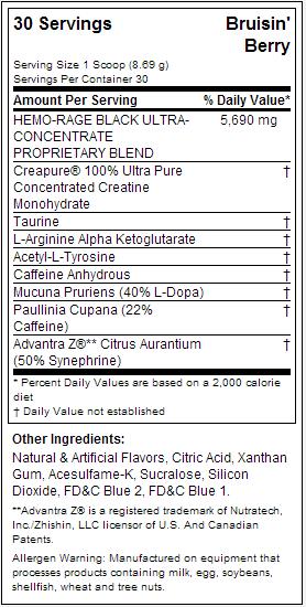 nutrex hemo rage nutrition label