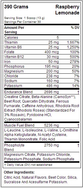 AIR SPEED by F3 Nutrition label