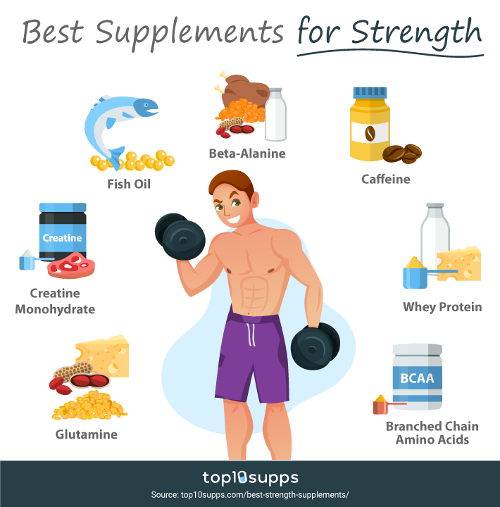 7 Best Supplements That Help You Get Stronger