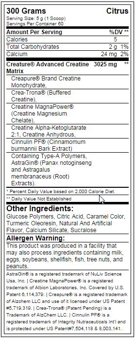 звяр спортове създание креатин хранителна етикет