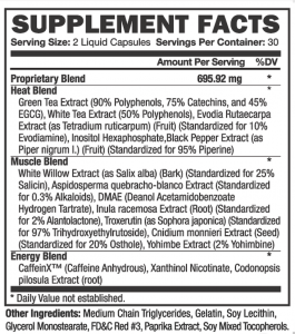 thermakor nutrition label