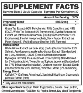 etichetă nutrițională thermakor
