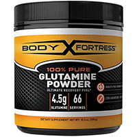 Polvo de glutamina pura 100 de Body Fortress