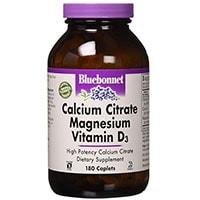 Bluebonnet Kalsium Citrat Magnesium Og Vitamin D3
