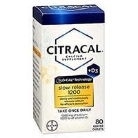 Citrakalkalsium og D3 Slow Release