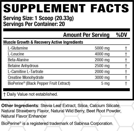 Jacked Factory redemption Nutritional Facts