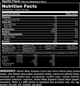 animal-whey-ingredients