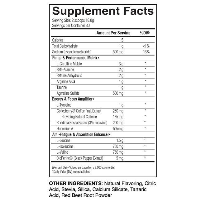 Вдигна работоспособност-Pre-Up-Pre-Workout-хранителен-етикет