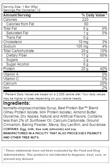 bpi-sports-best-protein-bar-supplement-facts-label