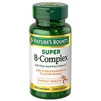 ნატურალური Bounty B კომპლექსით ფოლიუმის მჟავა პლუს ვიტამინი C