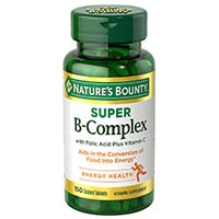 Natures Bounty B -kompleksi foolihapon plus C-vitamiinilla