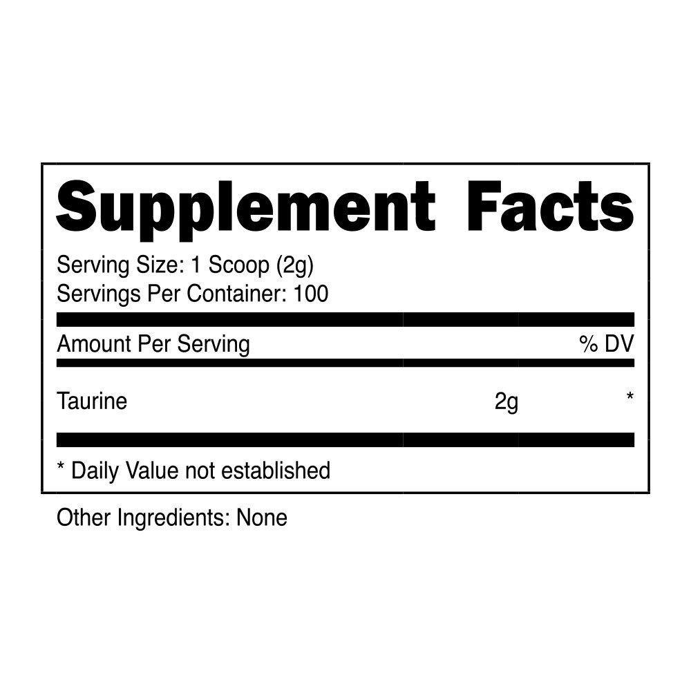 transparent-labs-rawseries-taruine-supplement-facts-label