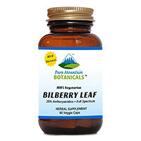 Pure Mountain Botanicals Bilberry Leaf