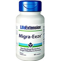Extensão de vida Migra Eeze Butterbur Gengibre Riboflavina
