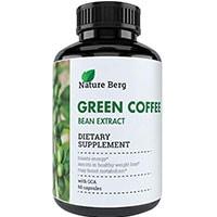 ბუნება ბერგ ბუნებრივი ნედლეული მწვანე ყავის ფხვნილი ამონაწერი