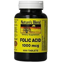 Nature's Blend Folic Acid 1000 mcg