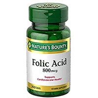 Nature's Bounty Folic Acid 800 mcg