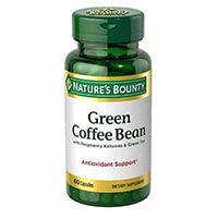 Nature's Bounty Green Coffee Bean with Raspberry Ketones & Green Tea Capsules