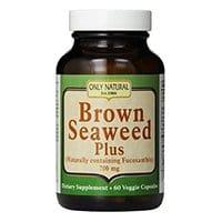 الوحيدة الغذائية الطبيعية الخضروات كبسولات، براون الأعشاب البحرية زائد