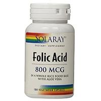 Solaray Folic Acid Capsules, 800mcg