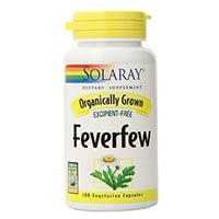 Solaray ორგანული Feverfew ფოთოლი დანართი