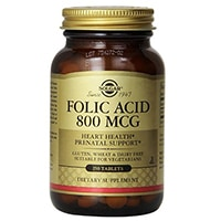 Solgar Folic Acid Tablet, 800 mcg