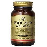 Solgar Folic Acid Tablets, 800 mcg