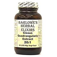 Barlowe ის მცენარეული Elixirs Cissus Quadrangularis ამონაწერი