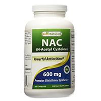 Melhor Naturais NAC N-acetil-L-cisteína 600 mg