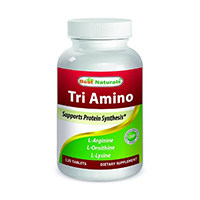 Beste Naturals Tri-Amino met L-arginine, L-ornithinedecarboxylase, L-Lysine