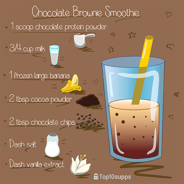 Brownie de chocolate-Smoothie-600