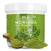 Organic Moringa Прах Maju Суперхраните Maju на