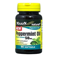 Mason Natural Peppermint Oil Enteric Coated Soft Gels