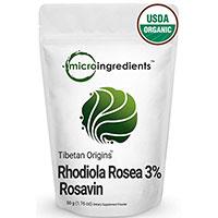 Micro შემადგენლობა ორგანული Rhodiola Rosea