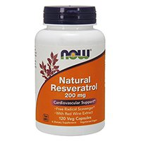 NOW Foods Natural Resveratrol potencia Mega