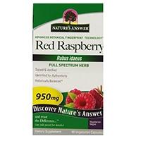 Resposta da natureza Red Raspberry Leaf Vegetarian Cápsulas