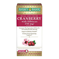 Nature's Bounty Dual-Spectrum Cranberry Plus Hibiscus