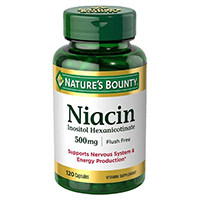 Bounty Niacine de la nature Flush gratuit 500 mg