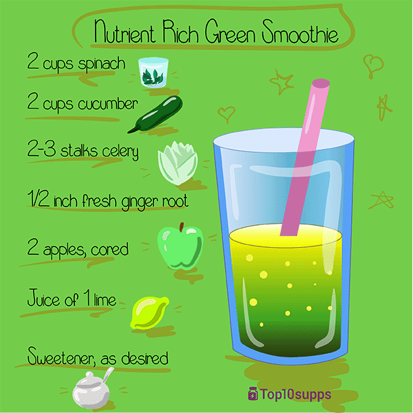 Rica en nutrientes-verde-Smoothie-600