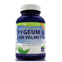Nutrissence Pygeum და ხერხი Palmetto