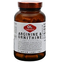 OLYMPIAN LABS Arginin 500mg & Ornithin 250mg