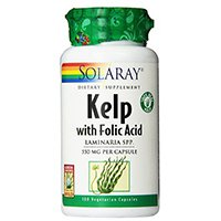 Solaray kelp cu acid folic