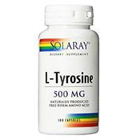 Suplemento Solaray L-Tyrosine Forma Livre