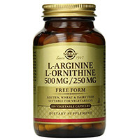 Solgar L-arginina L-ornityny Kapsułki roślinne