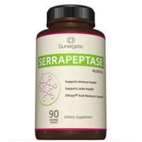 Sunergetic ที่ดีที่สุด Serrapeptase เอนไซม์เสริม
