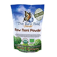 O Raw Food Mundial Certified Organic Wildcrafted Noni pó