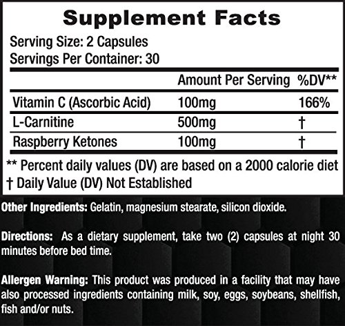 Axis Labs Adipo X supplement facts label