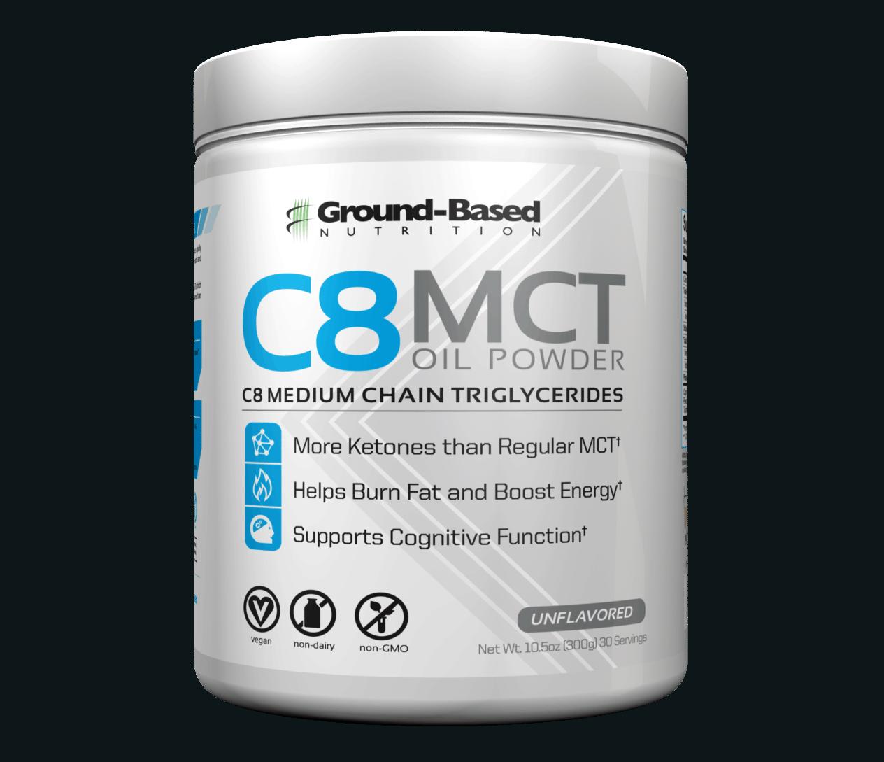 ग्राउंड आधारित पोषण C8 Mct तेल पाउडर